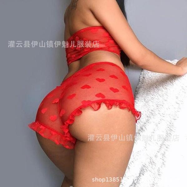 Women's bra lace three point seductive sexy lingerie picture