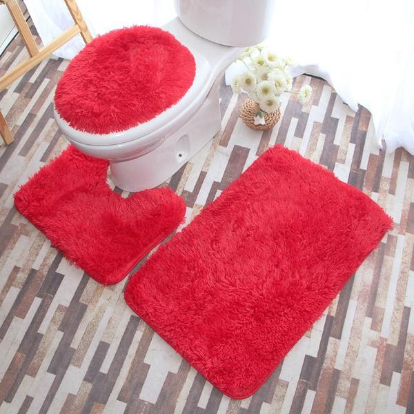 3 piece toilet mat picture