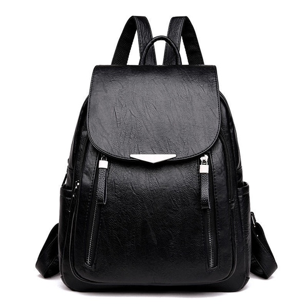 Soft leather school bag large capacity picture