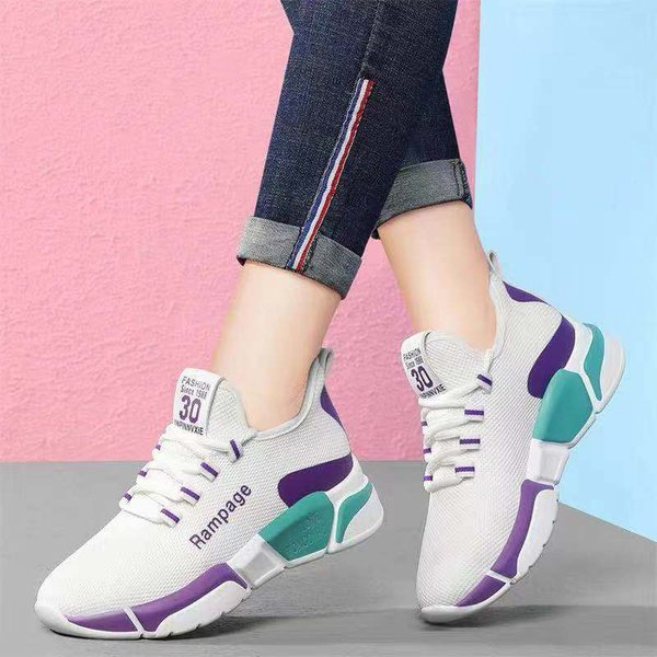 Ladies mixed color comfortable sneakers picture