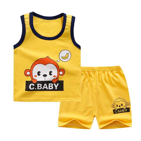 Children vest pure cotton set picture