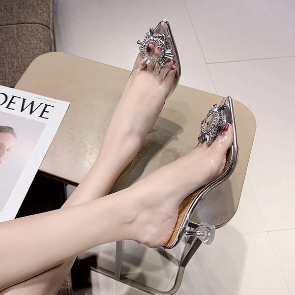 Women's slivery new high heel shoes picture