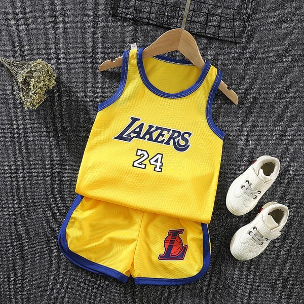 Children casual sports short sleeve picture