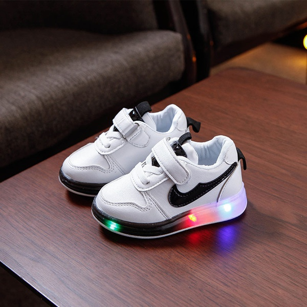 Kids colourfull led with light shoes picture