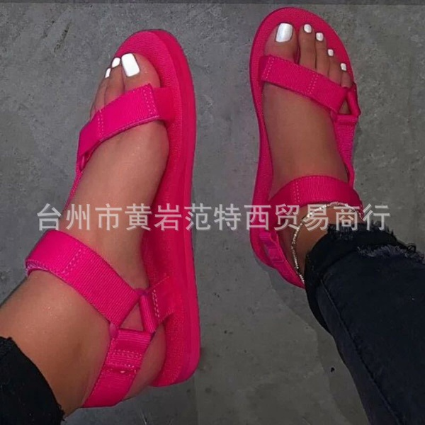 Womans light magic paste flat bottom casual sandels picture