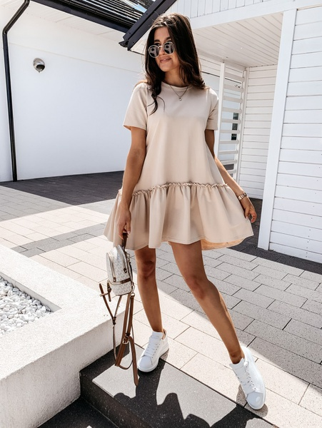 Summer solid color short sleeve picture