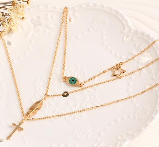 Eye temparement versatile necklace, picture