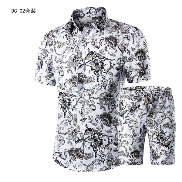 Men's short sleeve slim fitting with pants picture