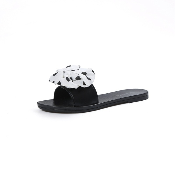 Bow flat sole all round women's shoes picture