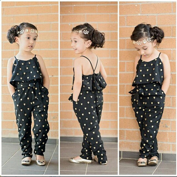 Girls lovely slig jumpsuits picture