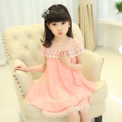 Children lace dress picture