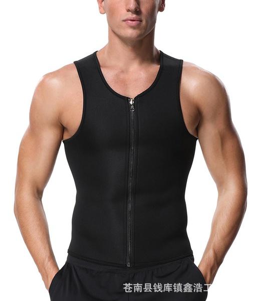 Zipper shape tank for men picture