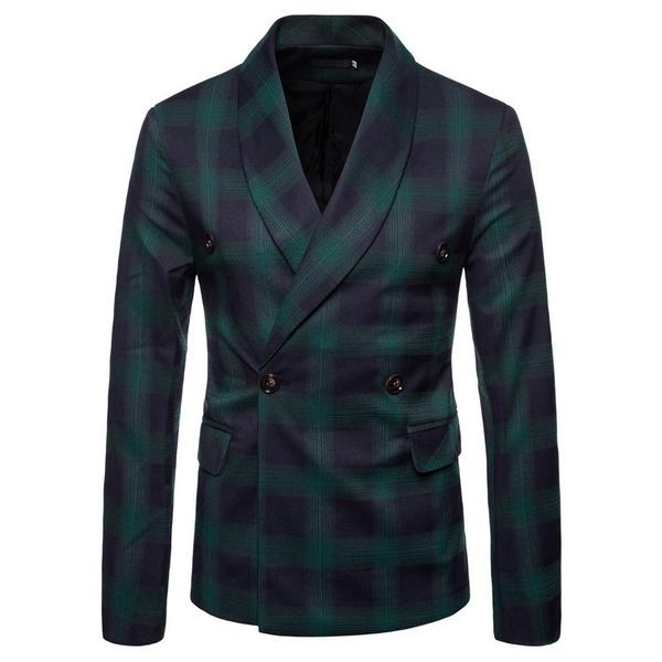 Men's casual plaid suits picture