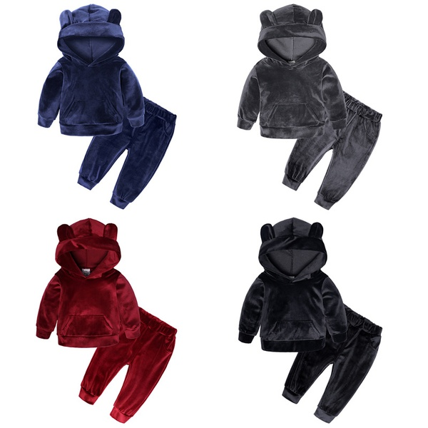 Children velvet winter cloths picture