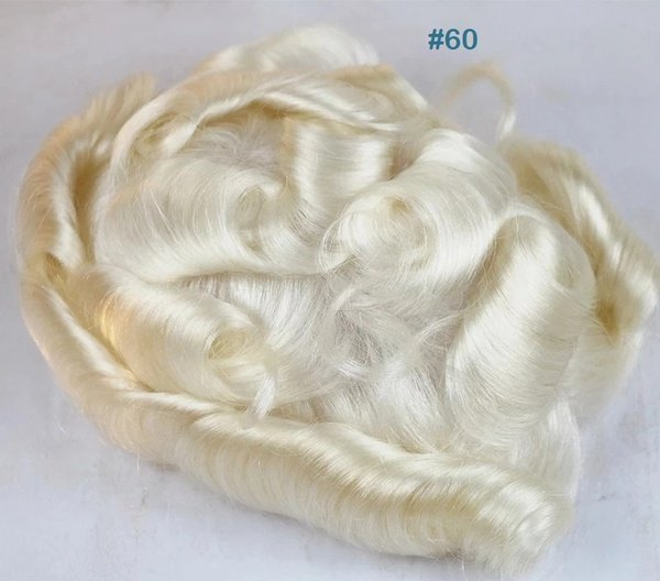 V loop thin skin pu toupee picture