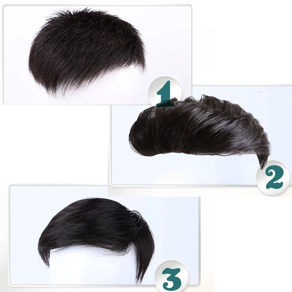 Ready styled clip-in toupee for men picture