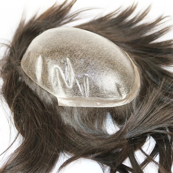 Poly skin injected toupee (color black only available currently) picture