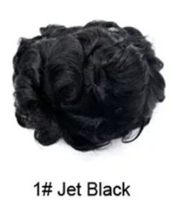 Curly thin skin pu base toupee picture