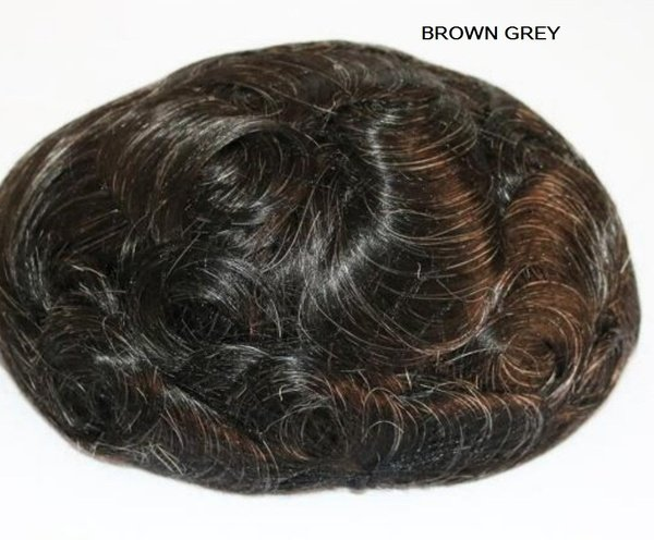 French lace with pu toupee picture
