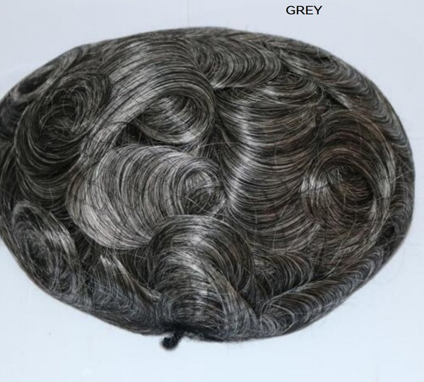 Clear poly base toupee picture