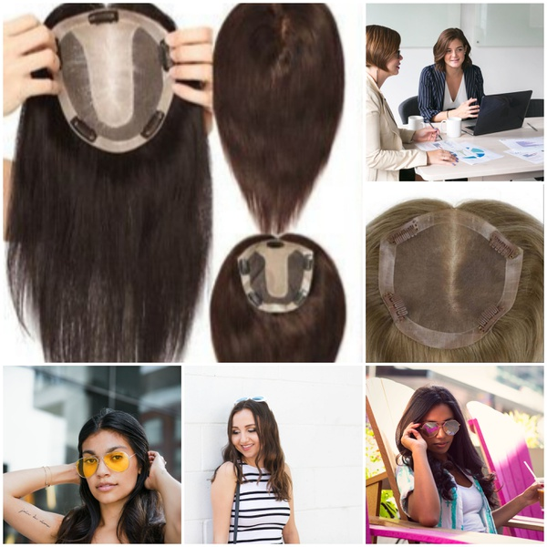 Woman hair toppers picture