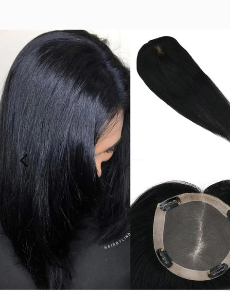 Black  #1 clip-in hair topper picture