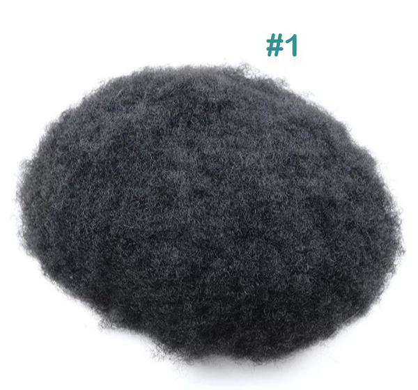 Super durable skin base afro curly toupee picture