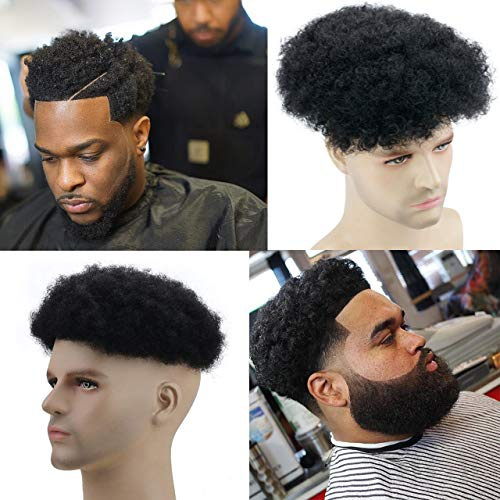 Afro hair toupee picture