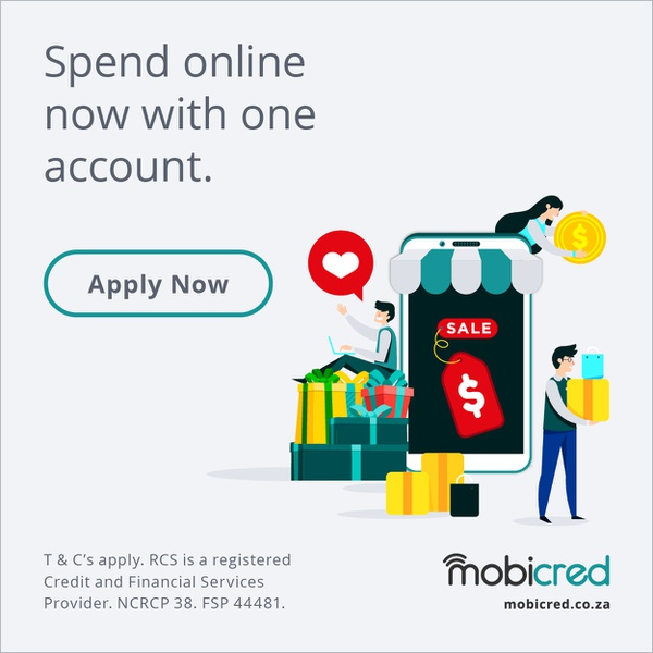 Open your mobicred account to spend online picture