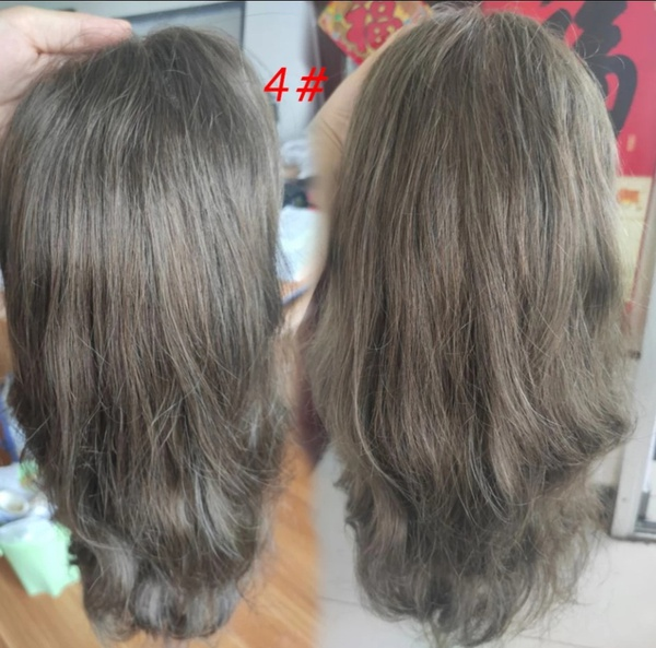 Swiss lace front toupee with thin skin pu picture
