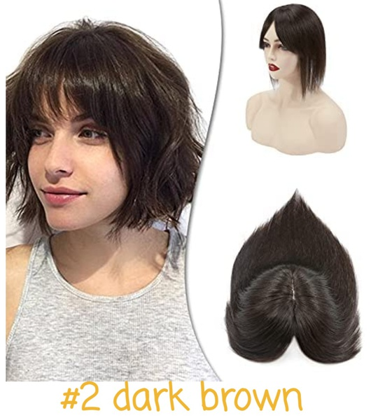 Clip-in toppers with fringe/bangs picture