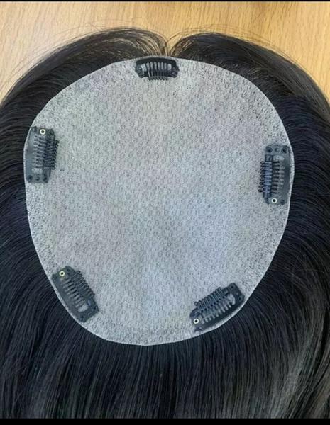 6x7 silk base clip-in topper color #1b 14 inch picture