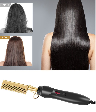 Hair straightener heating comb picture