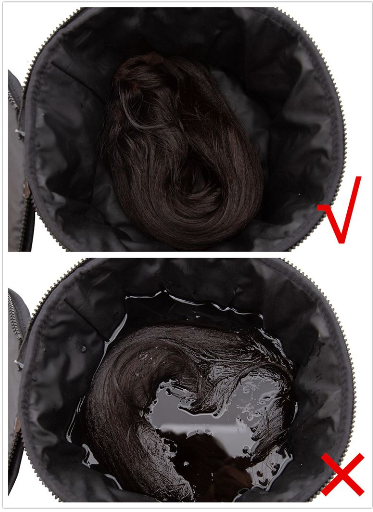 All-in-one thermal wig carrier case for extensions wigs & hair pieces -large picture