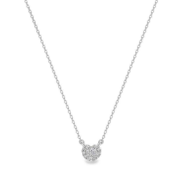 Evosneakz pave heart necklace picture