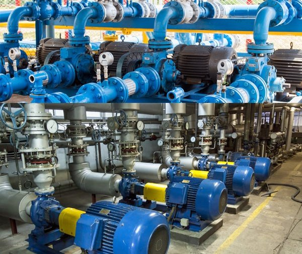 Industrial pumps and compressors picture