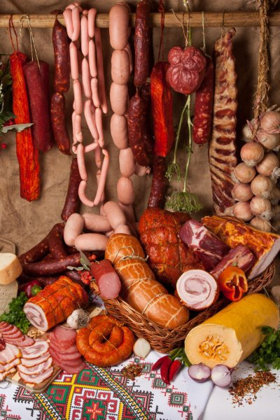 Smoked meat products picture
