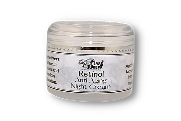 Retinol anti aging night cream picture