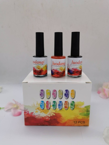 """12pc color ink """"blooming ink"""" picture"""