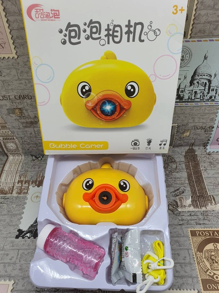Duck bubble camera picture