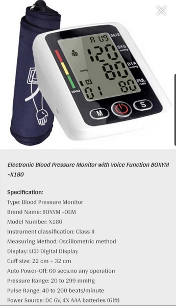 Electric blood pressure monitor picture