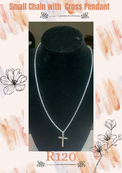 Small chain necklace with cross picture