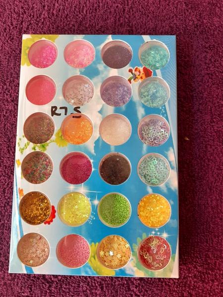 24pc glitter picture