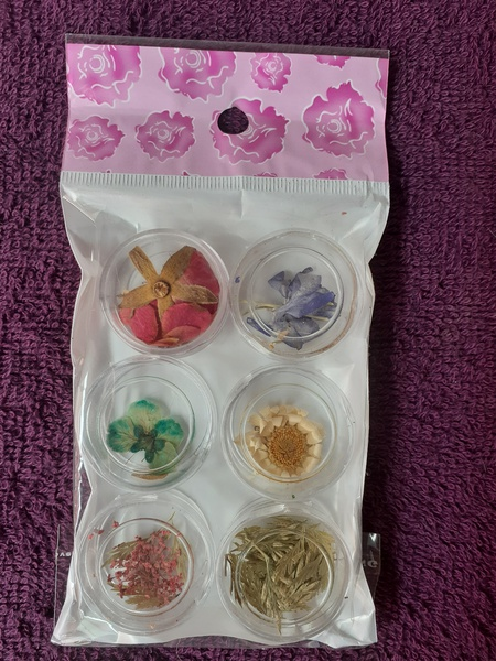 6pc dried flowers picture
