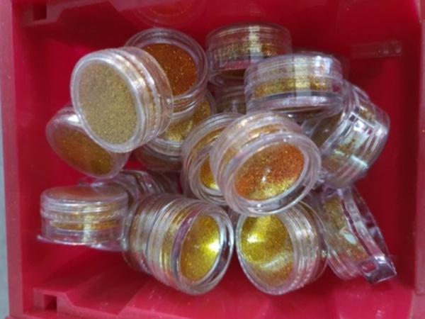 Small glitter tub gold picture