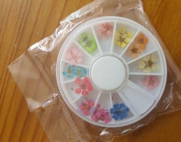 Dried flower art wheel picture