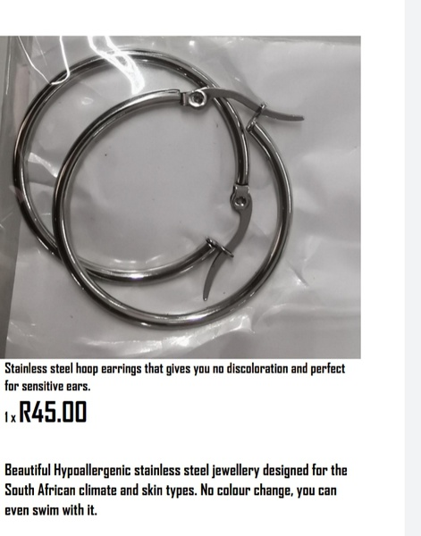 Stainless hoops 3cm picture