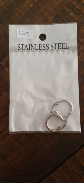 Stainless steel hoops 1cm picture