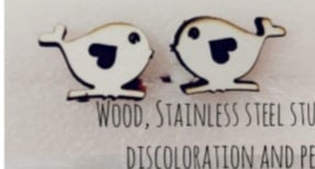 Wooden earings g picture
