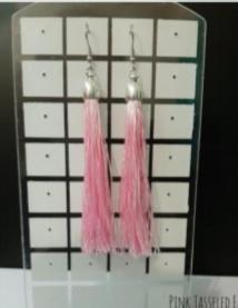 Tasseld earings pink picture